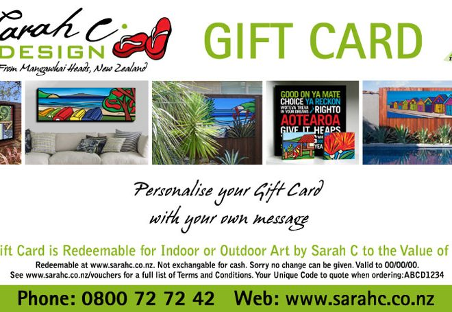 Sarah C gift card / gift voucher - the gift that everyone will love