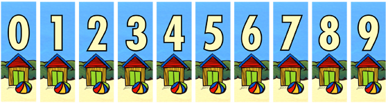 House numbers by Sarah C - beach hut design