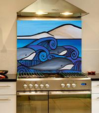 Whales-Splashback