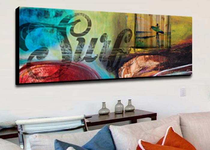 Custom wall art by NZ artist Sarah C, Mangawhai